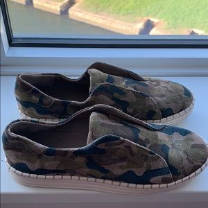 Camo slip-on sneakers- worn 1x Perfect condition!